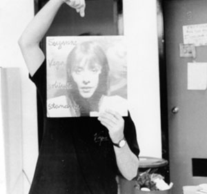 Carl with Suzanne Vega album